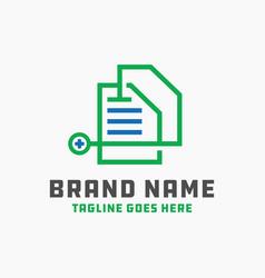 medical document logo design vector image