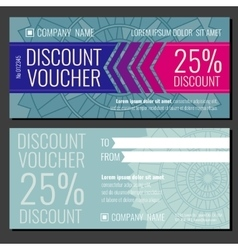 Modern gift coupon card voucher template vector