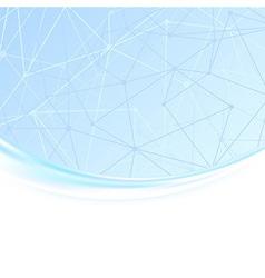 Molecule unusual wave background vector image