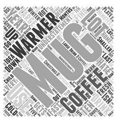 Mug warmer Word Cloud Concept vector