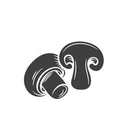 mushrooms champignon glyph icon vector image