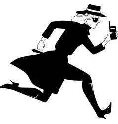Mysterywoman run bw vector