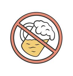 No alcohol beverage color icon drinking forbidden vector