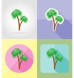 objects for recreation a beach flat icons 11 vector image