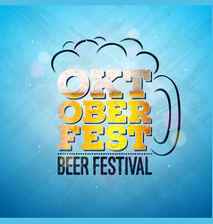 oktoberfest banner with fresh lager vector image