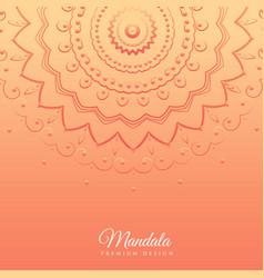 orange background with mandala design vector image