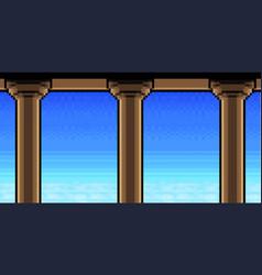 Pixel art heavens vector