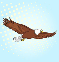 Pop art background bird eagle falcon of vector