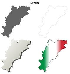 Savona blank detailed outline map set vector