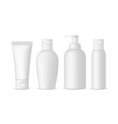 Set antibacterial hand sanitizers mockups vector