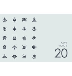 Set of robots icons vector
