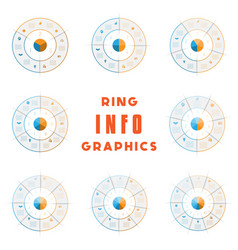 set templates ring from colored lines for vector image