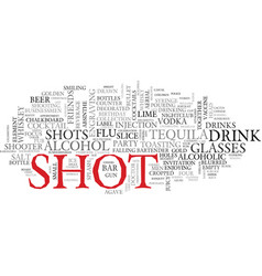 Shot word cloud concept vector