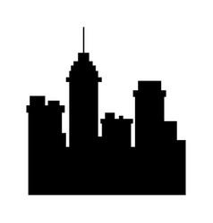 Silhouette building urban city town skyscraper vector