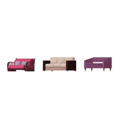 sofa modern furniture couch seat furnished vector image