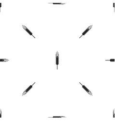 stalk of ripe barley pattern seamless black vector image