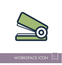 Stapler outline icon workspace sign vector