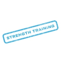 Strength training rubber stamp vector