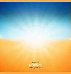 summer background of sunshine nature beach vector image
