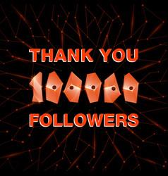 Thank you 100000 followers thanks banner follower vector