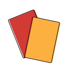 Two cards soccer element equipment vector