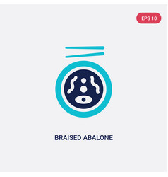 Two color braised abalone icon from food vector