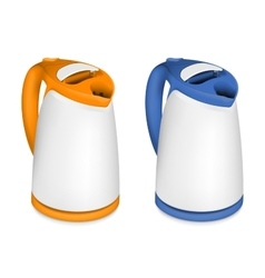 Two electric kettle vector