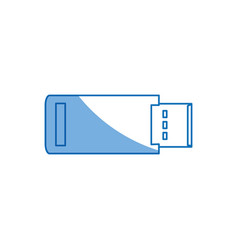 usb backup device technology office vector image