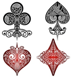 Vintage Playing Cards Symbols Set vector