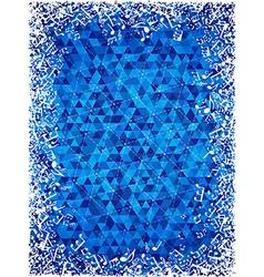White music frame on blue geometric background vector image