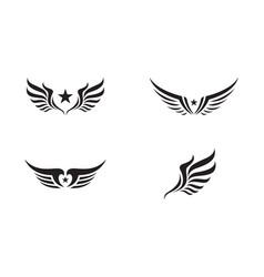 Wing logo template vector