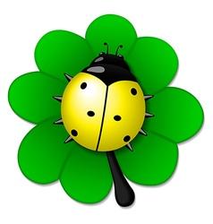 Yellow ladybug vector