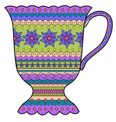 Colorful cup vector image vector image
