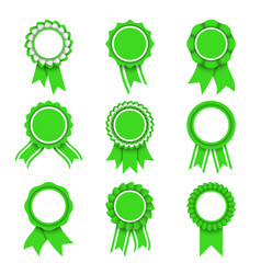 green award medals vector image vector image