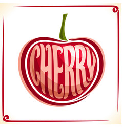 logo for cherry vector image vector image