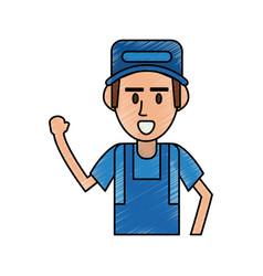 mechanic worker cartoon vector image