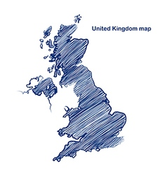 United Kingdom map vector image vector image
