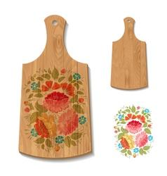 wooden utensil1 vector image vector image
