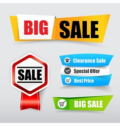 047 Collection of web tag banner for promotion vector image