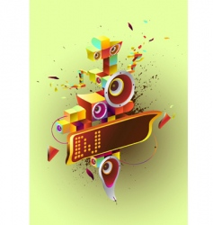 abstract drawing vector image vector image