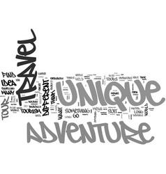 adventure tourism unique adventure tours text vector image