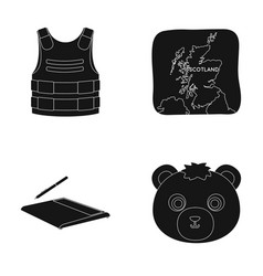 Animal travel and or web icon in black style vector