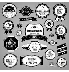 Black sale labels set vector image vector image