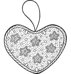 christmas decoration for christmas tree - heart vector image vector image