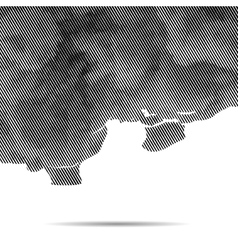 dotted abstract halftone cloud background vector image