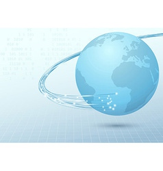 Earth broadband cable connection background vector