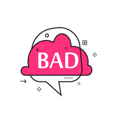 outline speech bubble with bad phrase vector image vector image