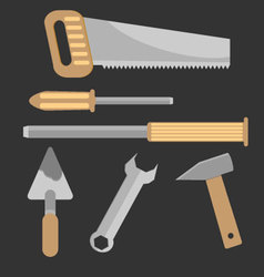 Set of hand tools vector image vector image