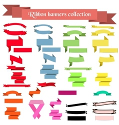 Collection of ribbons and banners vector image vector image