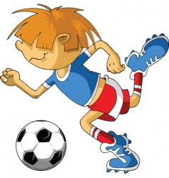 little soccer vector image vector image